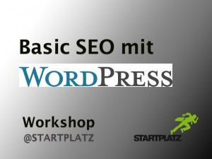 SEO Workshop zum Plugin WordPress