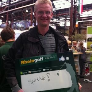 Top-Stimmung auf der Rheingolf, mehr unter www.golfpost.de