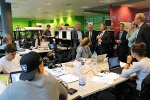 Finanzminister und OB Kandidat im direkten Austausch mit den Startups