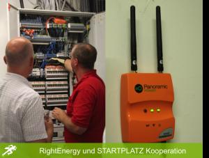 Installation der Sensoren und der Sammelrouters im STARTPLATZ Köln