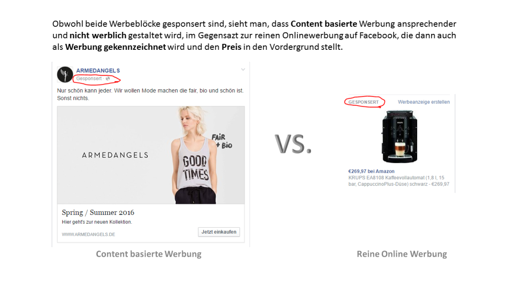 Content Werbung vs. Reine Online Werbung
