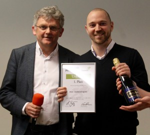 Martin Riedel von rise technologies mit Dr. Lorenz Gräf, Gründer und CEO von STARTPLATZ