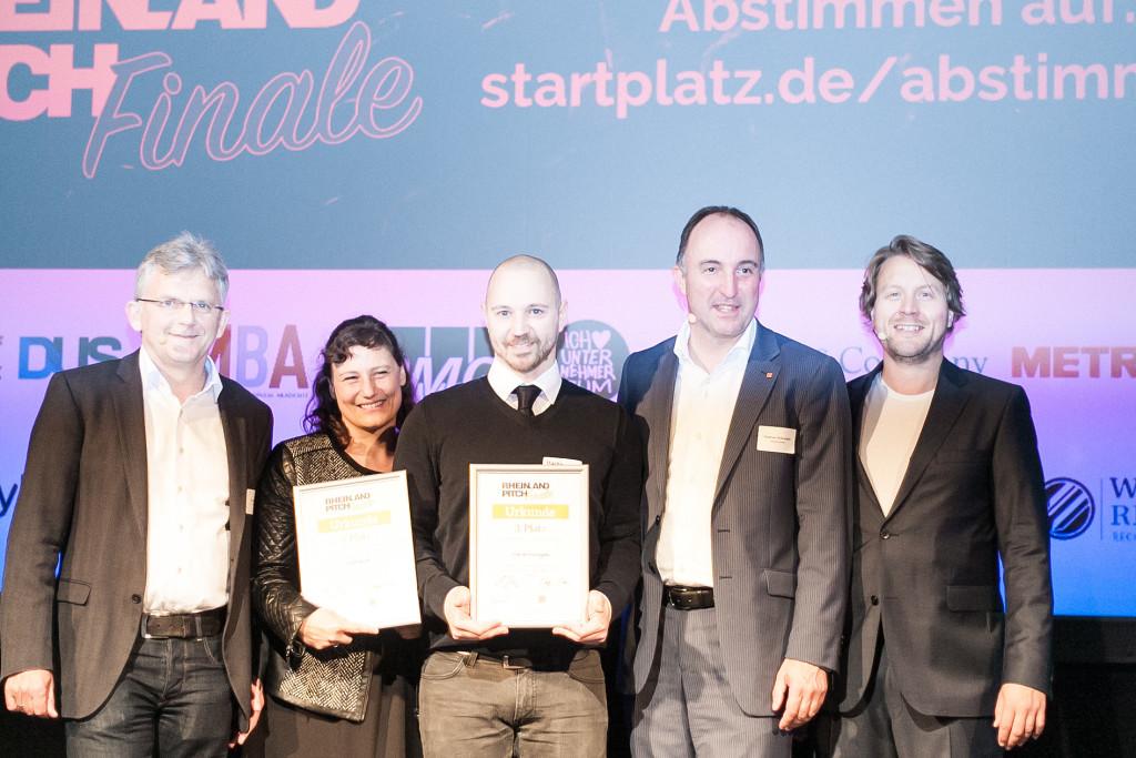 Nora Grazing von Radbonus und Martin Riedel von rise technologies (beide 3. Platz)