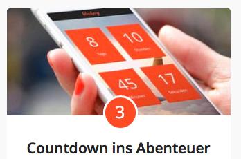 Countdown ins Abenteuer mit blookery