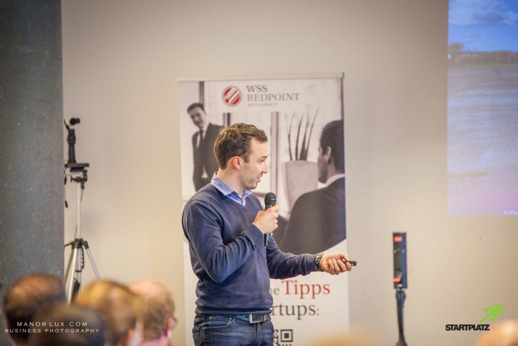 Daniel Steinhauss vom Startup AviPay beim Rheinland-Pitch
