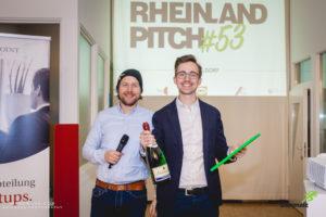 Felix Schmitt (rechts) der Gründer von Superkorb gewinnt den Rheinland-Pitch #53