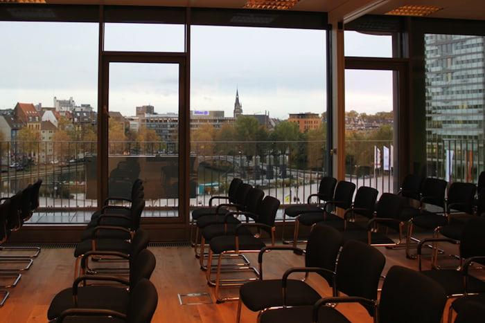 Aussicht auf den Mediapark in Köln