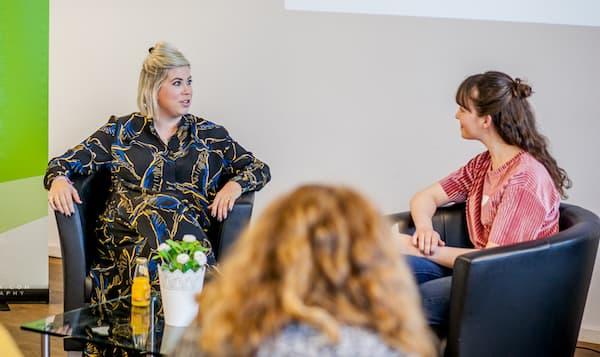 Franziska von Hardenberg im Fireside Chat mit Victoria Blechman-Pomogajko