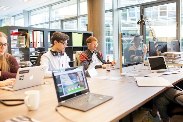 Gemütliche Atmosphäre im Coworking Space