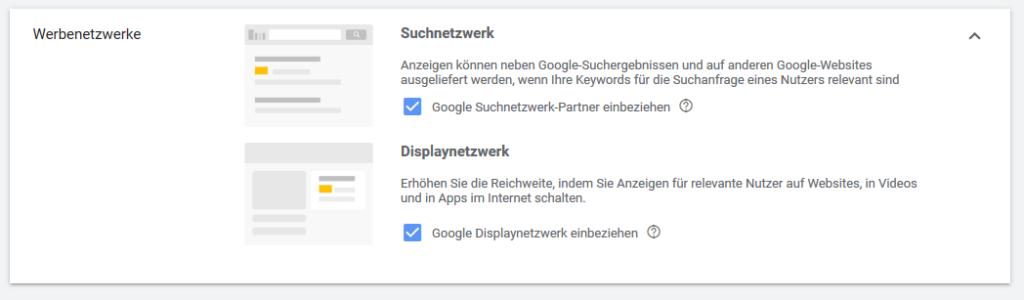 Google Ads Display Netzwerk in Kampagnen