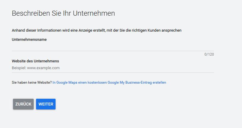 Google Ads Kampagne Beispiel
