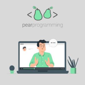 pearprogramming Logo: Lehrer erklärt etwas digital
