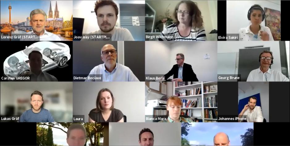 Teilnehmer des Politischen Dialogs, kaminabend, mit der FDP zum Thema Digitalisierung